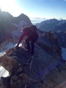 Arête du sommet